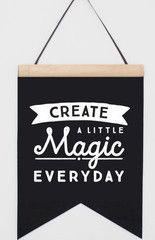 Felt Banner Create a little Magic