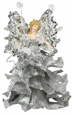 10 Attractive Christmas Holiday Casablanca Angel Tree Topper  Silver A01055 >>> Click image for more details.