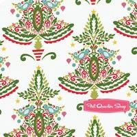 Merry Mistletoe White Partridge Yardage SKU# PWDF238-WHIT