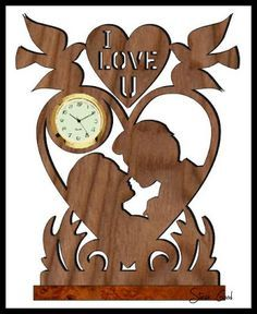 I love you mini clock