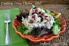 Sunflower Supper Club: Cranberry Pecan Chicken Salad