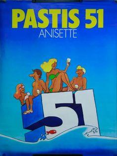 Pastis 51-1975... ...réépinglé par Maurie Daboux ღ¸.•*¨`*•..¸