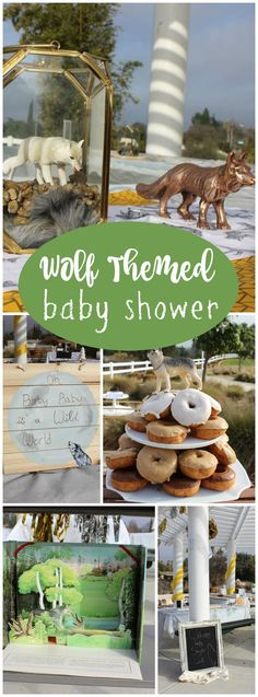 You have to see this wild wolf themed baby shower! See more party ideas at CatchMyParty.com!