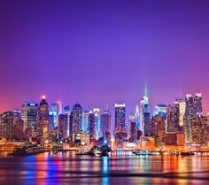 New York City Night Lights | 1080x960 water sea night lights new york city manhattan skyscrapers ...