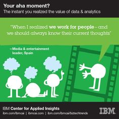 """When I realized we work for people-- and we should always know their current thoughts"" #ahamoment #IBMCAI #data #analytics"
