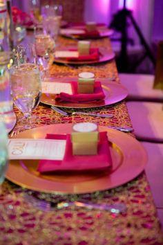 Luxury {Nigerian} Wedding in {Philadelphia} with a Hot Pink Color Scheme: Lyndah + Chris - Munaluchi Bridal Magazine Fuschia Wedding, Hot Pink Weddings, Gold Wedding Colors, Gold Wedding Theme, Pink And Gold Wedding, Sunset Wedding, Simple Weddings, Gold Weddings, Table Rose