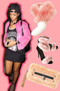 【ELLEgirl】STYLE4【リアーナ】|寒い冬こそピンクが着たい♡ おしゃれセレブのピンクコー