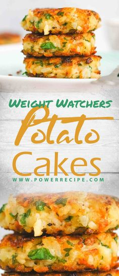 The best Potato Cakes recipe ever. come with only 2 weight watchers SmartPoints. to make this wonderful Potato Cake recipe you need the Ww Recipes, Potato Recipes, Cake Recipes, Dinner Recipes, Cooking Recipes, Quick Recipes, Recipies, Weight Watchers Sides, Weight Watchers Cake
