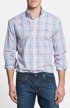 Vineyard+Vines+'Whale+-+Coveway'+Classic+Fit+Plaid+Poplin+Sport+Shirt+available+at+#Nordstrom