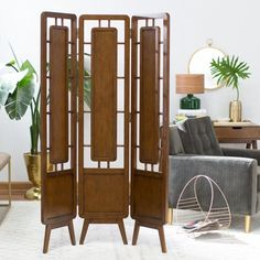 Buy products such as Belham Living Carter Mid Century Modern Room Divider at Walmart and save. Mid Century Modern Living Room, Mid Century Decor, Mid Century Modern Furniture, Plywood Furniture, Home Furniture, Rustic Furniture, Antique Furniture, Furniture Design, Furniture Ideas