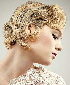 Wedding Hairstyle for Short Bride Hair
