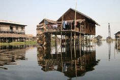Traditional Burmese house of stilts, Inle lake, Shan State, Burma Vernacular Architecture, Architecture Design, Eastern Countries, House On Stilts, Inle Lake, Water House, Chiang Mai, Amazing Architecture, Traditional House