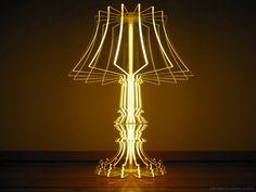 Luminária de mesa feita com placas de acrílico transparente #HiperOriginal #Luminária #Casa #HO!