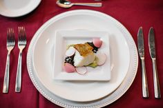 23 City Blocks - Catering - St. Louis, MO - Wedding - Reception - Corporate - appetizers - Fish has never looked so pretty!  Vendor Credit: Mike Cassimatis Photography, Kate & Company