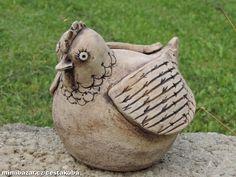 Keramická slípka Pottery Animals, Ceramic Animals, Chicken Painting, Ceramic Pots, Zentangle, Original Art, Projects To Try, Clay, Birds