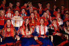 Sami teenagers dressed in traditional clothing for their confirmation. Karasjok Church. Sapmi. North Norway.    © Bryan & Cherry Alexander Photography / ArcticPhoto