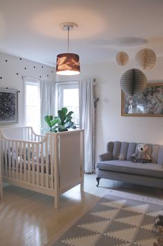 Gray and White Animal-Inspired Nursery - Project Nursery