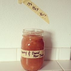 Just a little homemade jam.  #harryanddavid #pearjam""