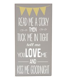 Take a look at this Gray & White 'Read Me A Story' Wall Art by Vinyl Crafts on #zulily today!