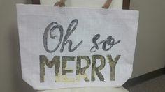 Christmas Tote Mudpie Christmas, Mud Pie, Four Square, Reusable Tote Bags, Merry