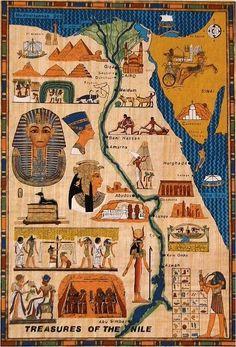 Toda la historia en un día Ancient Egypt For Kids, Ancient Egypt History, Ancient Map, Egypt Crafts, India Crafts, Egypt Map, Egyptian Art, Ancient Civilizations, World History