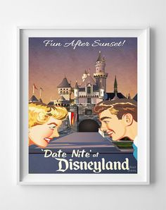 Disneyland Date Nite Print
