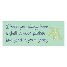 Stencil star fish beach quote sand, image and wording combined are approx. 13.5 x 4.5 inches for signs crafts wall linen decoration found on Polyvore
