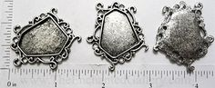 silver klimt spiral swirl pendant tray bracelet blank bezel setting