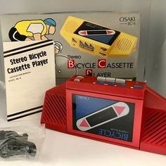 OSAKI Bicycle STEREO CASSETTE PLAYER kaufen auf ricardo.ch Cassette, Bicycle, Vintage, Ebay, Model, Red, Auction, Packaging, Bike
