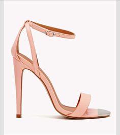 Strappy nude heels