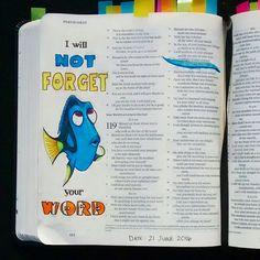 Bev Knaup bible journaling Psalm 119:16