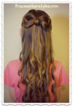 Bow made from hair with curls