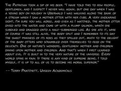 And this is why I love Terry Pratchett