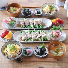 Diet Recipes, Vegan Recipes, Cooking Recipes, Cute Food, Yummy Food, Party Platters, Food Lists, Food Plating, Japanese Food