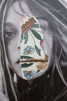 Love this mixed media collage artwork - inspired by flowers! // When I first met Dina Broadhurst, I remember her telling me about her interior design work, nothing about her art, (more. Design Trends 2018, Graphic Design Trends, Photomontage, Dina Broadhurst, Art Du Collage, Art Collages, Collage Portrait, Create Collage, Collage Design