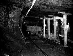 Crozer Coal and Coke Company, Elkhorn, West Virginia, coal mine interior, 1930's.