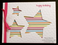 Stampin' Up! Star Framelit Birthday Greeting Card
