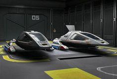 Class 2 shuttles in Intrepid class hangar Star Trek Borg, Star Wars, Starfleet Academy, Starfleet Ships, Alien Ship, Space Fighter, Star Trek Original Series, Star Trek Starships, Star Trek Universe