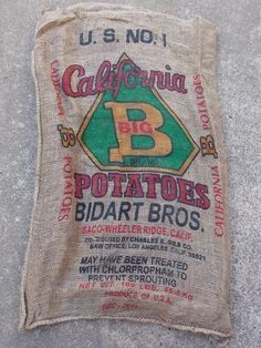 "10 Qty - 24"" x 40"" All Different Burlap Potato Sack/Bag Rat Rod, Sack Race, Feed"