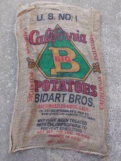 "10 Qty - 24"" x 40"" All Different Burlap Potato Sack/Bag Rat Rod, Sack Race, Feed"