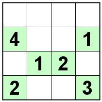 Number Logic Puzzles: 21109 - Sudoku size 4