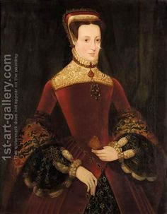 REFERENCE: Portrait of a Woman aged 16 previously identified as either Mary Fitzalan, Duchess of Norfolk or Mary Queen of Scots. Allegedly by Hans Eworth. There seem to be several copies. Formulaic: I doubt it is by Eworth.