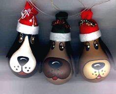 Christmas Tree ornaments made of light bulbs | Dog LightBulbs come in 3 colours:
