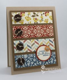 by Angela McKay, North Shore Stamper  ...always looking for ways to use my stash of patterned paper.