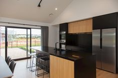 Modern home in Waikato, New Zealand. Builder: Urban Homes Dream Home Design, House Design, Black House Exterior, Modern Barn House, Shed Homes, Brown And Grey, Building A House, Architecture Design, Home Goods