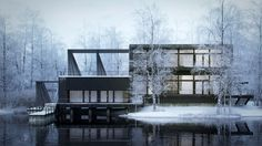 Making of Nordic House by Héctor Javier Diez Valladares. #archviz #architecture…