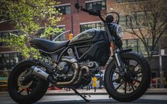 Download wallpapers custom bikes, Scrambler Ducati 803, 4k, superbikes, Stealth Tracker, Ducati