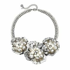 Simply Vera Vera Wang Two Tone Simulated Pearl, Simulated Crystal and Bead Flower Necklace #Kohls
