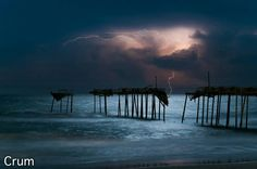 Storm over the ocean behind the old frisco pier!