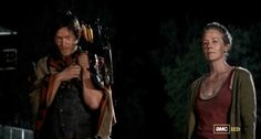 Daryl & Carol - I loved seeing her laugh and flirt. [ The Walking Dead, season 3, episode 1 ]